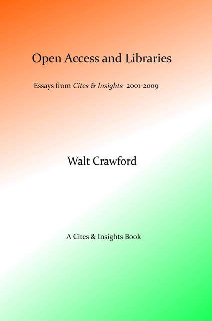 Open Access and Libraries, front cover