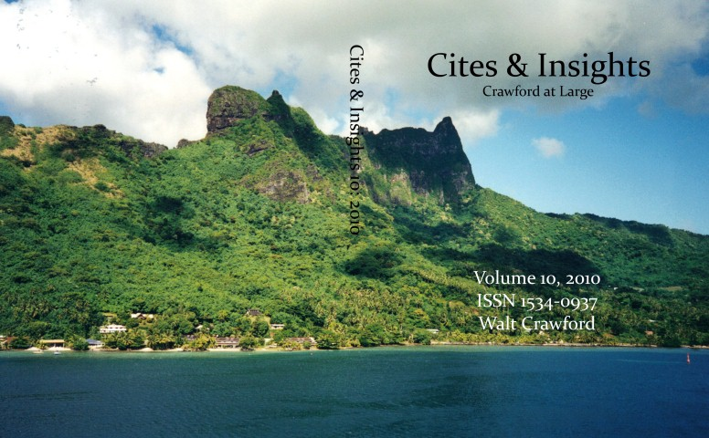 Cites & Insights 10, full wraparound cover